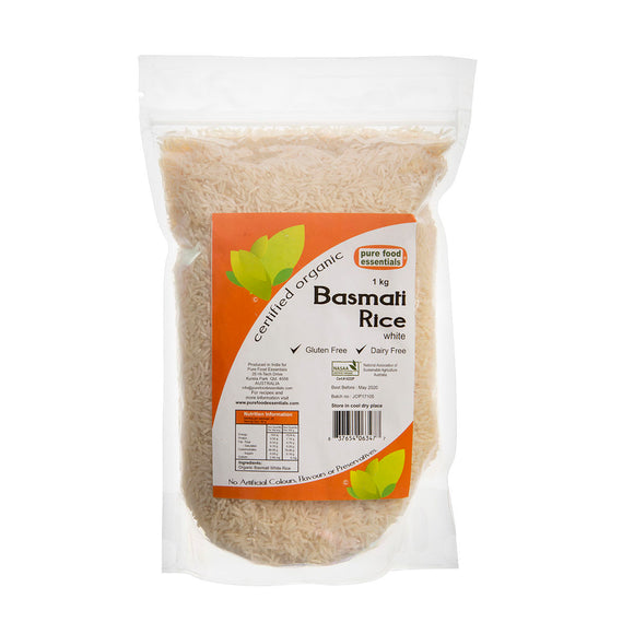 Pure Food Essentials Organic Basmati Rice 1kg
