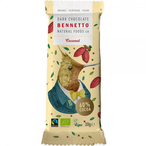 Bennetto Organic Dark Chocolate Coconut 30g