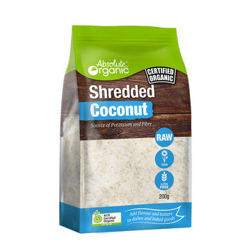 Absolute Organic Coconut Shredded 200g