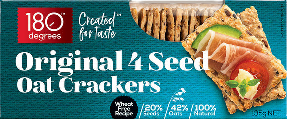 180 degrees Original 4 Seed Oat Crackers - 135g