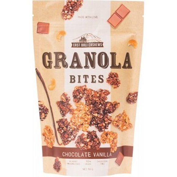 East Bali Cashews Granola Bites Chocolate Vanilla 125g