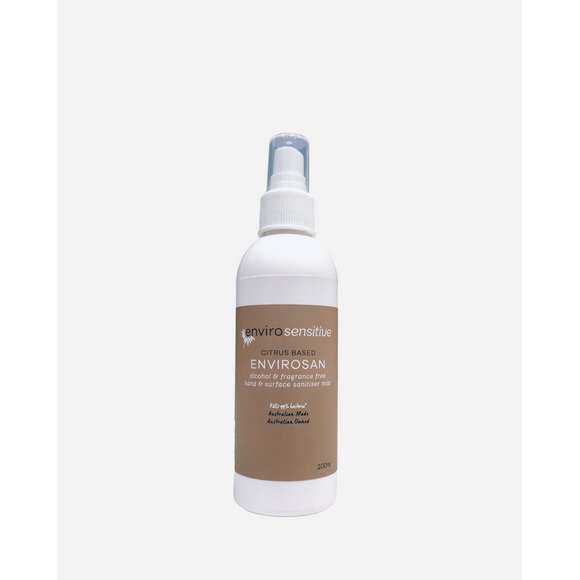 EnviroSensitive Hand & Surface Sanitiser Mist Fragrance Free 200ml