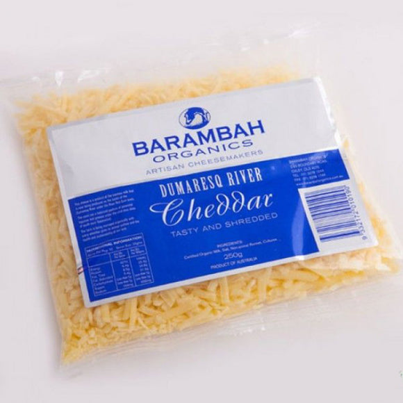 Barambah Organics Shredded Cheddar Cheese 250g