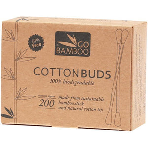 GO BAMBOO Cotton Buds 100% Biodegradable - 200pc
