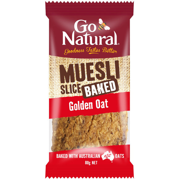 Go Natural Golden Oat Muesli Bar Slice 90g
