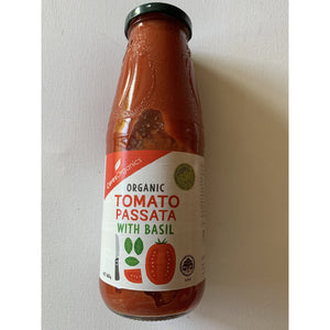 Ceres Organics Tomato Puree (Passata) with Basil 680g