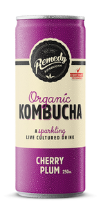 Remedy Kombucha Cherry Plum - 4x250ml cans