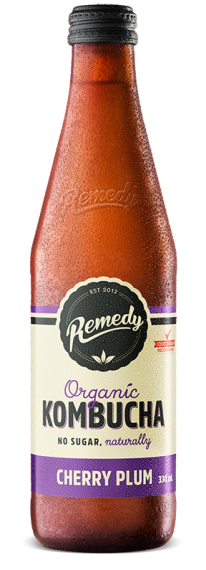 Remedy Kombucha Cherry Plum 750ml glass bottle