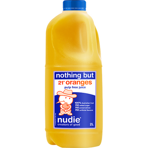 Nudie Pulp Free Orange Juice 2L
