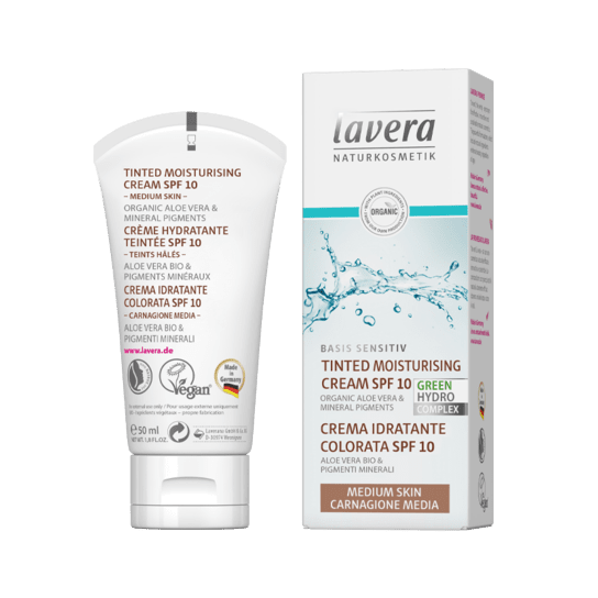 Lavera Basis Tinted Moisturiser SPF10 Medium 50ml