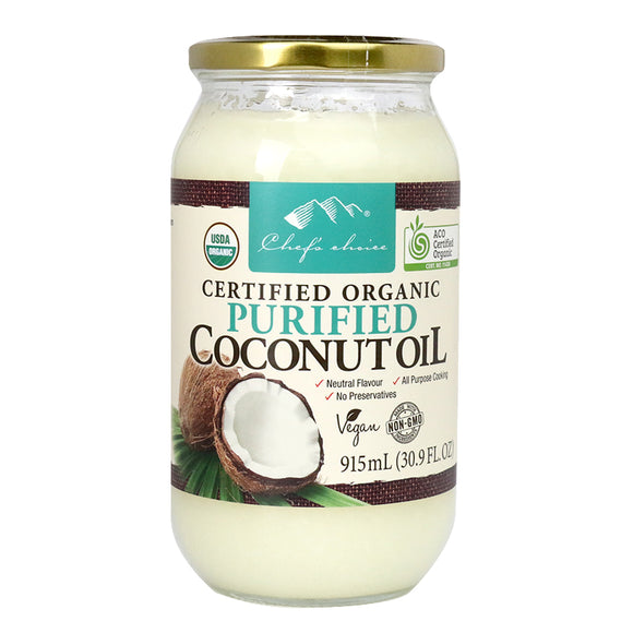 Chef's Choice Organic Purified Coconut Oil - 915ml