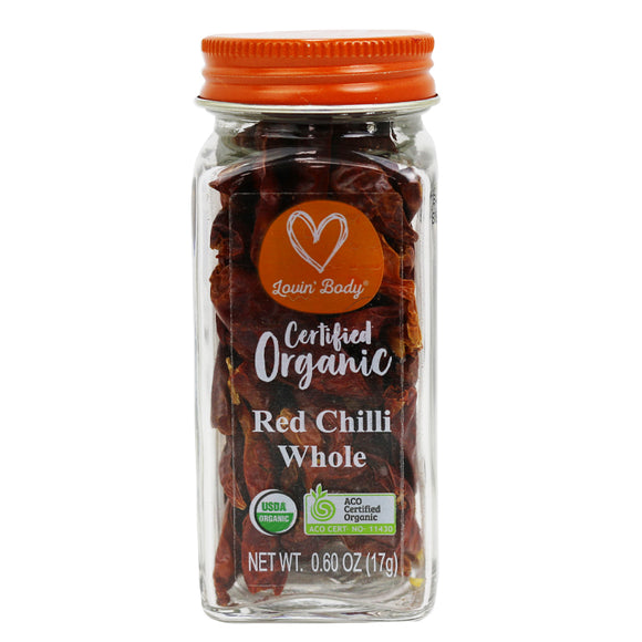 Lovin' Body Organic Whole Red Chilli - 17g