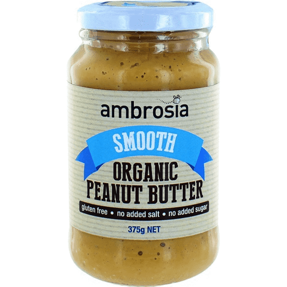 Ambrosia Organic Peanut Butter Smooth 375g (no added salt)