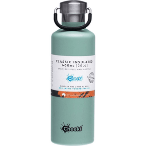 Cheeki Stainless Steel Insulated Bottle - Pistachio 600ml