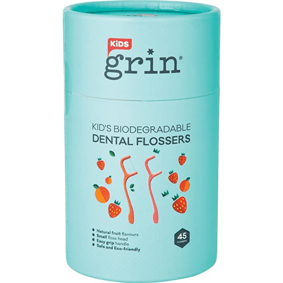 GRIN Biodegradable  Dental Flossers Kid's - 45