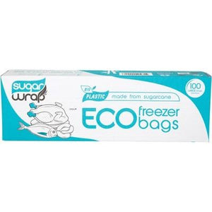 SUGARWRAP Eco Freezer Bags - Made from sugarcane - Large -100