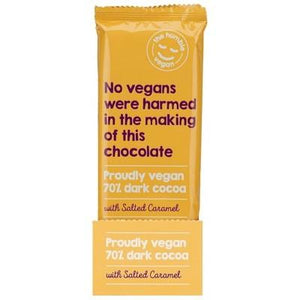 The Humble Vegan 70% Dark Cocoa with Salted Caramel - 80g