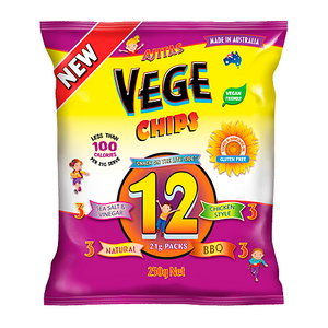 Vege Chips Multi Pack 252g (contains sunflower oil)