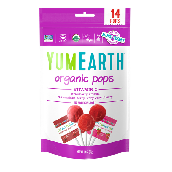 Yum Earth Organic Vitamin C Lollipops 14 lollipops/85g
