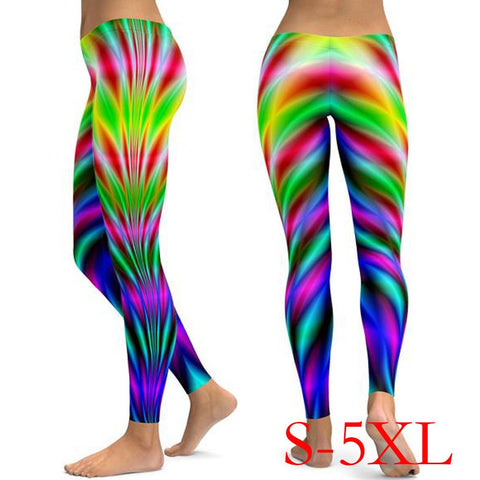 Women Printed Yoga Fitness Leggings Running Gym Stretch Sports Pants Trousers
