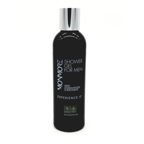Men's Shower Gel with Sandalwood & Bergamot. A relaxing shower gel to help you relax the body and calm your senses after an active day or night. Includes Sandalwood and Bergamot essential oils and promotes a real feeling of well being.