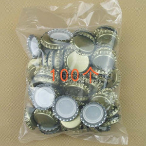 100pcs/lot Beer bottle cap beer lid for DIY homebrew beer tool Free shipping-modlily
