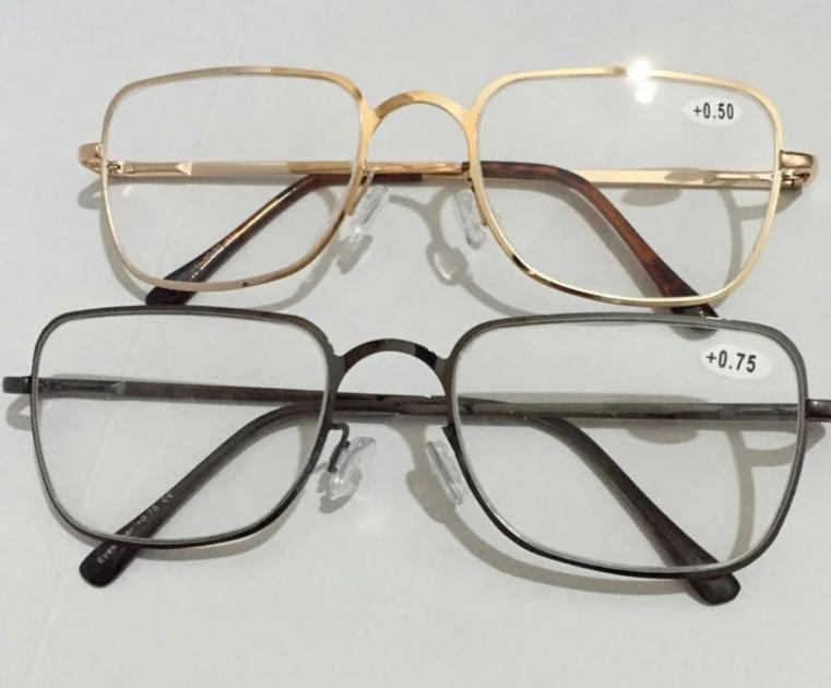 Reading Glasses Men Women +450 +500 +550 +600 +650 +700 +750 +800 Stainless Steel Glass Eyewear Gafas de Lectura Cheap-modlily