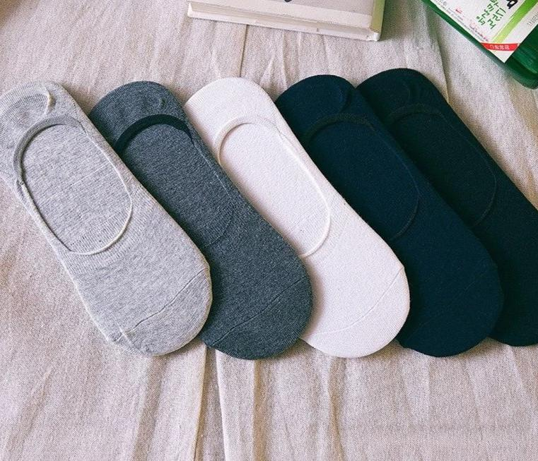 Spring And Autumn Man Fund sock slippers Solid Color Korean All-match Asakuchi Invisible Socks Silica Gel Non-slip Flat Socks-modlily