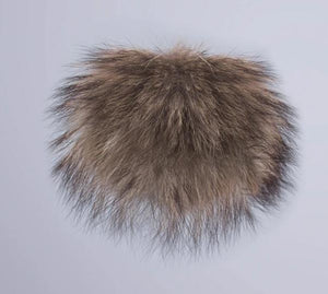 Real raccoon fur pom poms real fur hat in winter hats for women&kintted hat & fur cap&children accessories-modlily