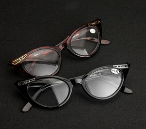 Elegant Female Ladies Women Cat Eye Reading Glasses Resin Lenses Crystal Rhinestone Decoration Presbyopic Eyewear for Elder-modlily