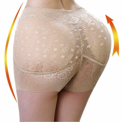 Womens Middle Waist Underwear Abundant Buttocks Padded Seamless Butt Lift Lingerie Hip Up Control Panties