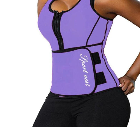 Workout Neoprene Waist Trainer Corsets Sauna Top Vest Zipper Sweat Hot Body Shaper Hot Adjustable Slimming Blet Waist Cincher-modlily
