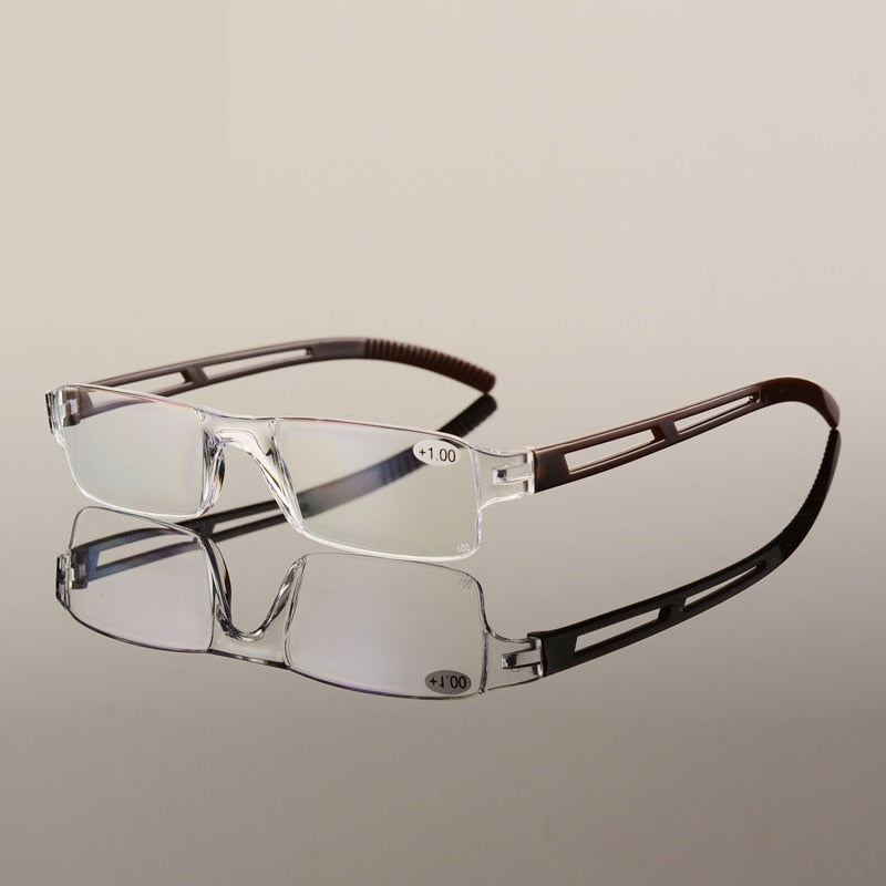 TR90 ultralight Reading glasses rimless Portable presbyopia glasses Transparent hyperopia spectacles cheap eyeglasses-modlily