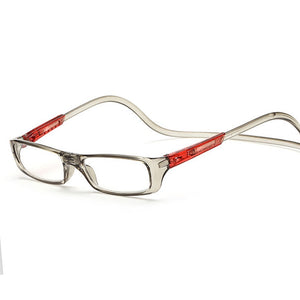 Magnetic Reading Glasses Men Women Clear Magnet Eyewear Adjustable Hanging Neck presbyopic glasses +1.0 1.5 2.0 2.5 3.0 3.5 4.0-modlily
