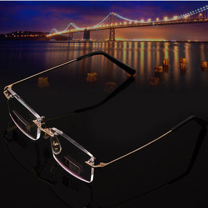 Big Sale High-grade Rimless Reading Glasses Women Men High Quality Diamond Cut Ultralight Frameless Reading Glasses 2.0 2.5-modlily