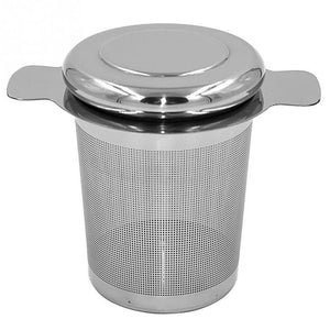 Reusable Stainless Steel Tea Infuser Basket Fine Mesh Tea Strainer with 2 Handles Lid Tea and Coffee Filters for Loose Tea Leaf-modlily