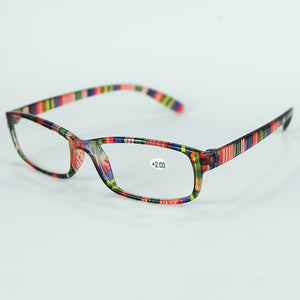 Olders Cheap Comfortable Reading Glasses Simple Colorful Plastic Frame With Power Lenses-modlily