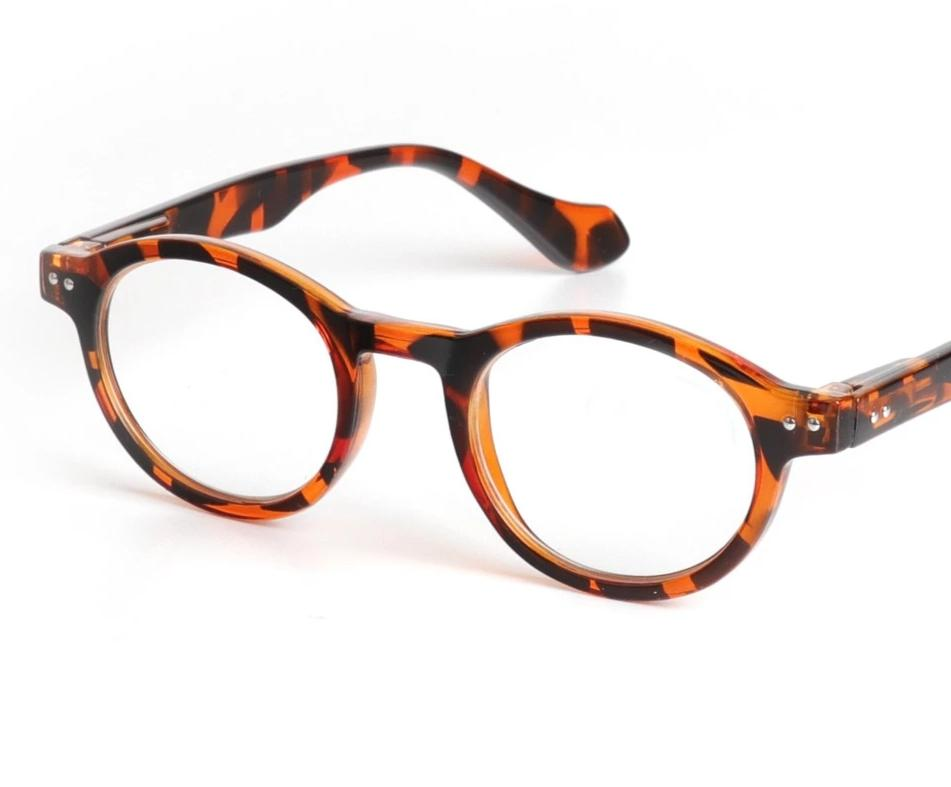 Chashma Retro Style Optical Glasses High Quality Eyewear Vintage Leopard Glasses Frame Round Reading Glasses-modlily