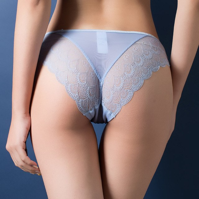Women Sexy Lace Panties , Women's Low Waist Cotton Underwear , Lady bow seamless briefs-modlily