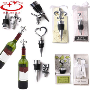 1 Pcs Bottle Stopper Wedding Decoration Elegant Red Wine Bottle Stopper Reusable Vacuum Sealed Wedding Party Favor Gift Decor-modlily
