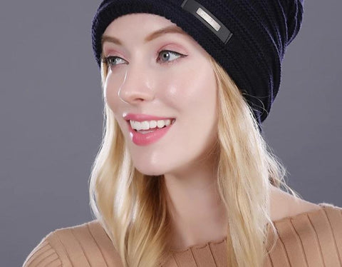[FLB] Winter Beanie Hat Ladies Knit Hats For Women Beanies Caps Beanie Touca Knitted Cap gorros With Ear Flaps female cap