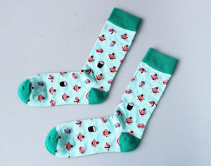 PEONFLY Concise Personality Skull Head Man Full In happy funny dress Socks Pure Cotton Motion Socks harajuku meias masculino-modlily