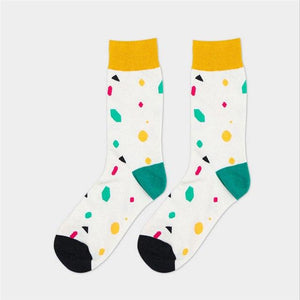 Hot sale! men's socks autumn-winter Mens Cotton Socks colorful splice male long happy socks men dress sock-modlily