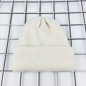 2017 New Winter Hat for Women Rabbit Cashmere Knitted Beanies Thick Warm Vogue Ladies Wool Angora Hat Female Beanie Hats-modlily