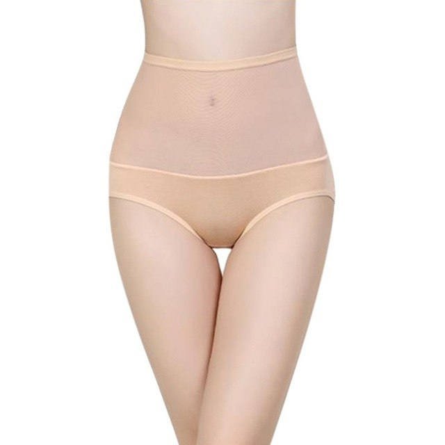 Women's Cotton Briefs High Waist Body Shaping Panties Seamless Underwear Bamboo Fibre Gauze Trigonometric Panties Slim Shaper-modlily