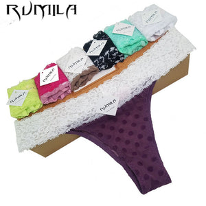 XXXXL 5color SEXY lace cotton Women Sexy Thongs G-string low-rise Underwear Panties Briefs lingerie bikini Ladies 1pcs ZX72-modlily