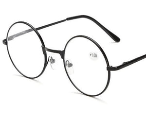 UVLAIK Round Spectacle Reading Glasses For Harry Potter Metal Frame Glasses Plain Mirror Presbyopia Male Female Reading Glass-modlily
