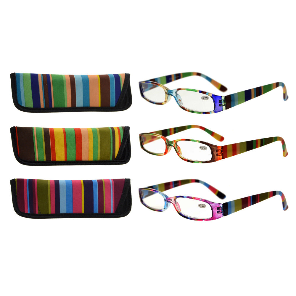 R906 Mix Eyekepper 3 Pack Ladies Reading Glasses for Women Smaller Readers +0.50-+4.00-modlily