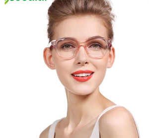 SOOLALA Oversized TR90 Reading Glasses Women Men Clear Frame Anti Radiation Computer Glass 0.5 to 4.0 Presbyopic Reading Glasses-modlily
