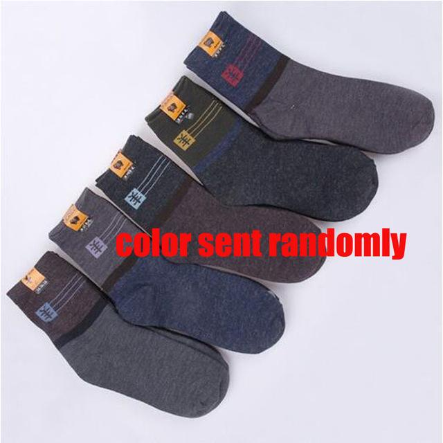 WJFXSOX Winter Combed Cotton Men Socks Male Casual In Tube Wool Socks Men Fashion Colorful Dress Business Socks meias masculinas-modlily